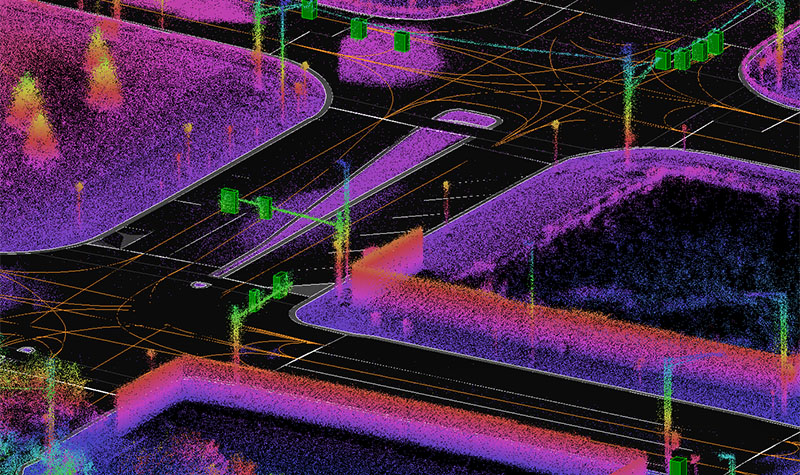 Autonomous Map Point Clouds